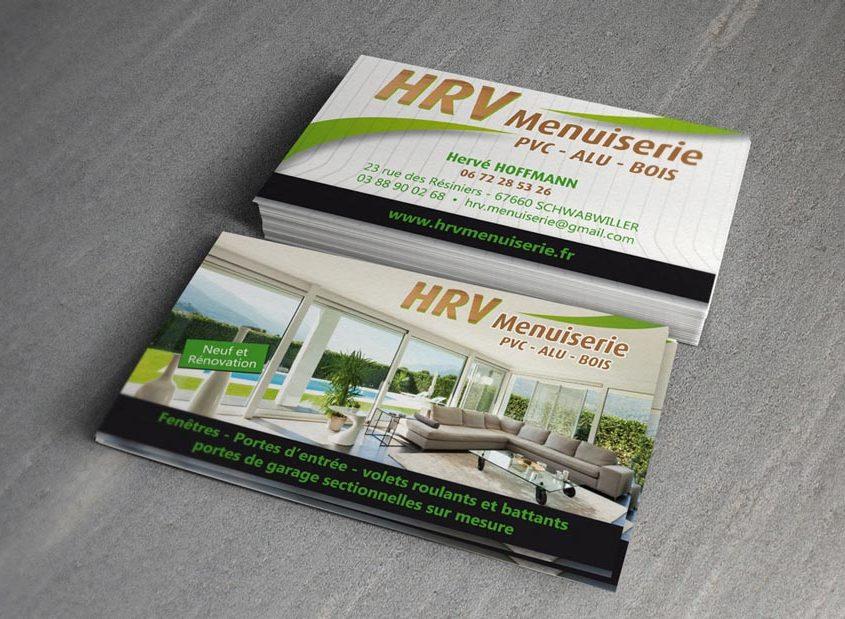 Cartes De Visite Menuiserie HRV Pour Lactivite Fermetures Vous Etes Ici Accueil Conception Site Web