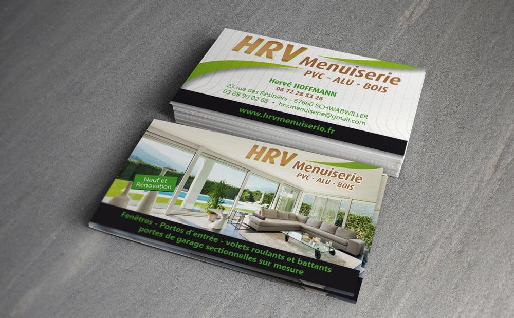 Cartes De Visite Menuiserie HRV Pour Lactivite Fermetures